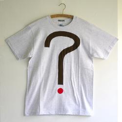 原明子 アートなTシャツ (M) No.7048 「ギモンとコウテイ」 [Pop Up Studio|原明子(静岡県)] ポップ アップリケ モダンアート