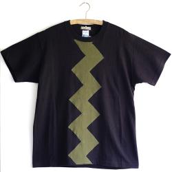 原明子 アートなTシャツ (M) No.7068 「カミナリ」 [Pop Up Studio|原明子(静岡県)] ポップ アップリケ モダンアート