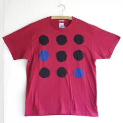 原明子 アートなTシャツ (M) No.7074 「ドット」 [Pop Up Studio 原明子(静岡県)] ポップ アップリケ モダンアート