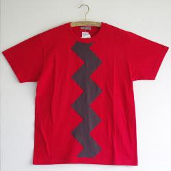 原明子 アートなTシャツ (S) No.6823 「カミナリ」 [Pop Up Studio|原明子(静岡県)] ポップ アップリケ モダンアート