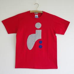 原明子 アートなTシャツ (160/XS) No.7088 Japan [Pop Up Studio|原明子(静岡県)] ポップ アップリケ モダンアート