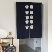 山内武志 型染め のれん 暖簾