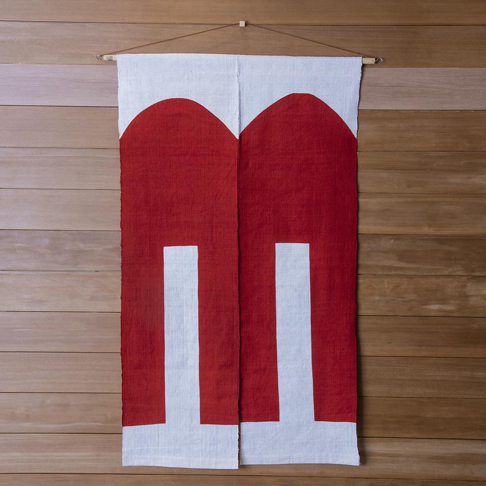 山内武志 型染め のれん 暖簾 綿