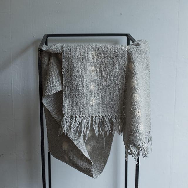 知多木綿ガラ紡ストールマフラー|染緒 -samio- 泉 奈穂