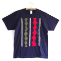 原明子 アートなTシャツ (L) No.8004 「ライン」 [Pop Up Studio|原明子(静岡県)] ポップ アップリケ モダンアート