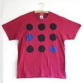 原明子 アートなTシャツ (M) No.7074 「ドット」 [Pop Up Studio|原明子(静岡県)] ポップ アップリケ モダンアート