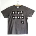 原明子 アートなTシャツ (S) No.8008 「ステップ」 [Pop Up Studio|原明子(静岡県)] ポップ アップリケ モダンアート