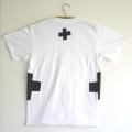 原明子 アートなTシャツ (S)  No.7087 「クロス」[Pop Up Studio|原明子(静岡県)] ポップ アップリケ モダンアート