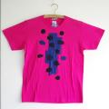 原明子 アートなTシャツ(160/XS)  No.7087 「ヤマナシ」 [Pop Up Studio|原明子(静岡県)] ポップ アップリケ モダンアート