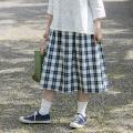 備後節織サイドタックスカート [暮らしの衣 あじさい|西友里さん(石川県)] 藍染チェック