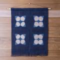 藍染め 板締め のれん 麻