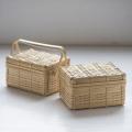 とうふかご(角物) /竹千代工房 小林 真弓さん(愛知県名古屋市)豆腐かご 弁当箱 ピクニックかご