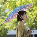 両面染色手ぬぐいの日傘 [ hirali|竹野染工さん(大阪府)] 氷結ぶ・雪あられ・冬凪・風光る