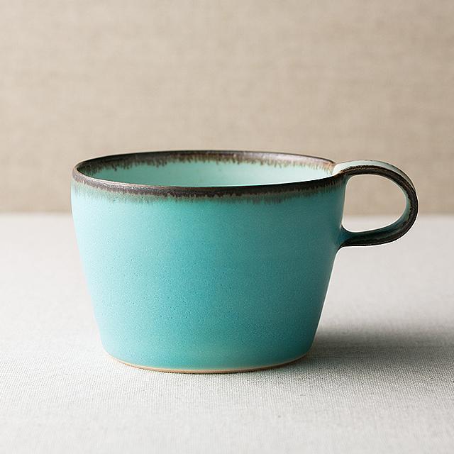 富士山麓の作家が贈る「青」マグカップ(ショートM)