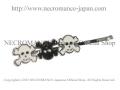 【ネクロマンス NECROMANCE】 スカルヘアーピン Skull Hair Pins <ホワイト/White/白> 骸骨