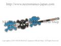 【ネクロマンス NECROMANCE】 スカルヘアーピン Skull Hair Pins <ブルー/Blue/青> 骸骨