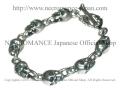 【ネクロマンス NECROMANCE】 シルバースカルブレスレット Silver Skull Bracelet 骸骨