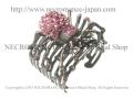 【ネクロマンス NECROMANCE】 ピンクスパイダーカフブレスレット Pink Spider Cuff Bracelet <ピンク/Pink/桃色> 蜘蛛