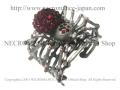 【ネクロマンス NECROMANCE】 スパイダーカフブレスレット Spider Cuff Bracelet <レッド/Red/赤> 蜘蛛