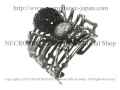 【ネクロマンス NECROMANCE】 スパイダーカフブレスレット Spider Cuff Bracelet <ブラック/Black/黒> 蜘蛛