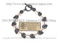【ネクロマンス NECROMANCE】 クリスタル スカルブレスレット Crystal Skull Bracelet 水晶 骸骨