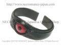 【ネクロマンス NECROMANCE】 レザー義眼バングル Leather Eye Bangle <レッド/Red/赤> 目玉 革