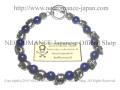 【ネクロマンス NECROMANCE】 ラピスラズリ スカルブレスレット Lapis lazuli Skull Bracelet 瑠璃 骸骨