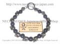 【ネクロマンス NECROMANCE】 サファイア スカルブレスレット Sapphire Skull Bracelet 蒼玉 骸骨