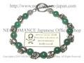 【ネクロマンス NECROMANCE】 アベンチュリン スカルブレスレット Aventurine Skull Bracelet インド翡翠 骸骨