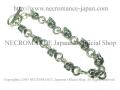 【ネクロマンス NECROMANCE】 シルバータイニースカルブレスレット Silver Tiny Skull Bracelet 骸骨