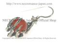【ネクロマンス NECROMANCE】 レッドアゲート ボーンハンドピアス Red Agate Bone Hand Pierce 赤めのう 骸骨