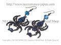 【ネクロマンス NECROMANCE】 ラージドロップブルースパイダーピアス Large Drop Blue Spider Pierce <ブルー/Blue/青> 蜘蛛