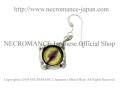 【ネクロマンス NECROMANCE】 シルバー義眼ピアス Silver Glass Eye Pierce <グリーン ヘーゼル/Green Hazel/緑茶> 目玉 悪魔 ドラゴン Dragon 龍