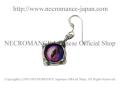 【ネクロマンス NECROMANCE】 シルバー義眼ピアス Silver Glass Eye Pierce <パープル ピンク/Purple Pink/紫青> 目玉 悪魔 ドラゴン Dragon 龍