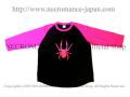 【ネクロマンス NECROMANCE】 ステリック ピンクスパイダー ラグランTシャツ Steric Pink Spider Raglan T-Shirt 蜘蛛 7分袖 立体的