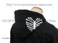 【ネクロマンス NECROMANCE】 ハートリブスケルトン ジップアップパーカー Heart Rib Skeleton hooded sweatshirt 骸骨 肋骨 心臓