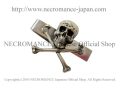 【ネクロマンス NECROMANCE】 スカル&エックスボーンネクタイクリップ Skull And X Bone Tie Clip 骸骨 ネクタイピン