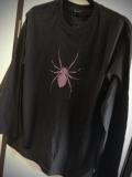 【チャリティー企画商品】【ネクロマンス NECROMANCE】 スパイダー ロングTシャツ<パープル/Purple/紫> Spider Long T-Shirt 蜘蛛 ロンT