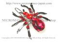 【ネクロマンス NECROMANCE】 スパイダーヘアークリップ Spider Hairclip <レッド/Red/赤> 蜘蛛
