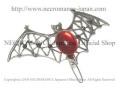【ネクロマンス NECROMANCE】 バットヘアークリップ Bat Hairclip <レッド/Red/赤> 蝙蝠 コウモリ