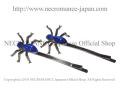 【ネクロマンス NECROMANCE】 スパイダーヘアーピン Spider Hair Pins <ブルー/Blue/青> 蜘蛛