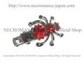 スパイダーヘアークリップ Spider clip <レッド/Red/赤> 蜘蛛 【NECROMANCE ネクロマンス】