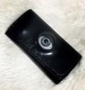 【ネクロマンス NECROMANCE】【限定受注生産】 レザー義眼キーケース Leather Glass Eye Key Case <ブルー/Blue/青色> 目玉 本革
