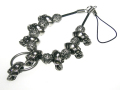 【ネクロマンス NECROMANCE】 ラージスカルネックレス携帯ストラップ Large Skull Necklace Mobile phone charm strap 骸骨