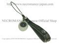 【ネクロマンス NECROMANCE】 義眼携帯ストラップ Eye Mobile phone charm strap <グレー/Gray/灰色> 目玉