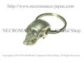 【ネクロマンス NECROMANCE】 ミディアムスカルキーリング Medium Skull Keyring 骸骨 頭蓋骨