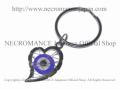 【ネクロマンス NECROMANCE】 イーヴィルアイ ハートキーリング Evil Eye Heart Keyring <ブルー/Blue/青> 邪眼 魔除け 御守り 目玉