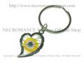 【ネクロマンス NECROMANCE】 イーヴィルアイ ハートキーリング Evil Eye Heart Keyring <イエロー/Yellow/黄>邪眼 魔除け 御守り 目玉