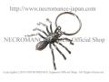 【ネクロマンス NECROMANCE】 リアルラージスパイダーキーリング Real Large Spider Keyring 蜘蛛 蜘蛛の巣