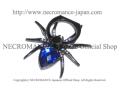 【ネクロマンス NECROMANCE】 スパイダー スマホリング <ブルー/Blue/青> Spider Phone Ring 蜘蛛